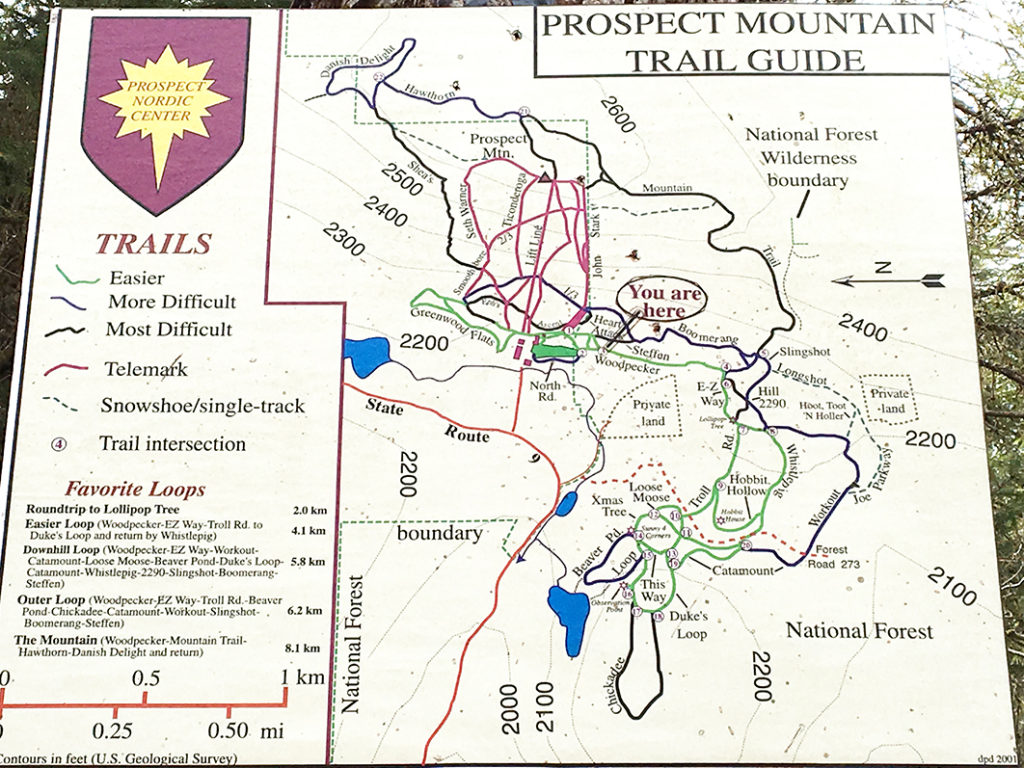 ZIONTIFIC Summer Solstice Music Festival Venue - Prospect Mountain Trail Map