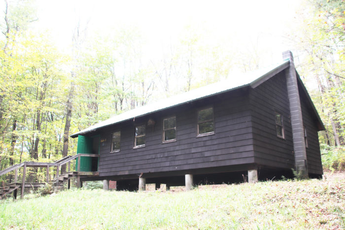 Front of Large Cabin