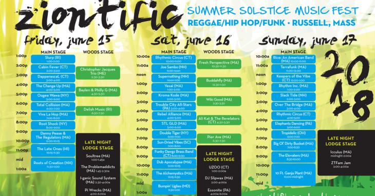 ziontific 8 music schedule — ZIONTIFIC Summer Solstice Music