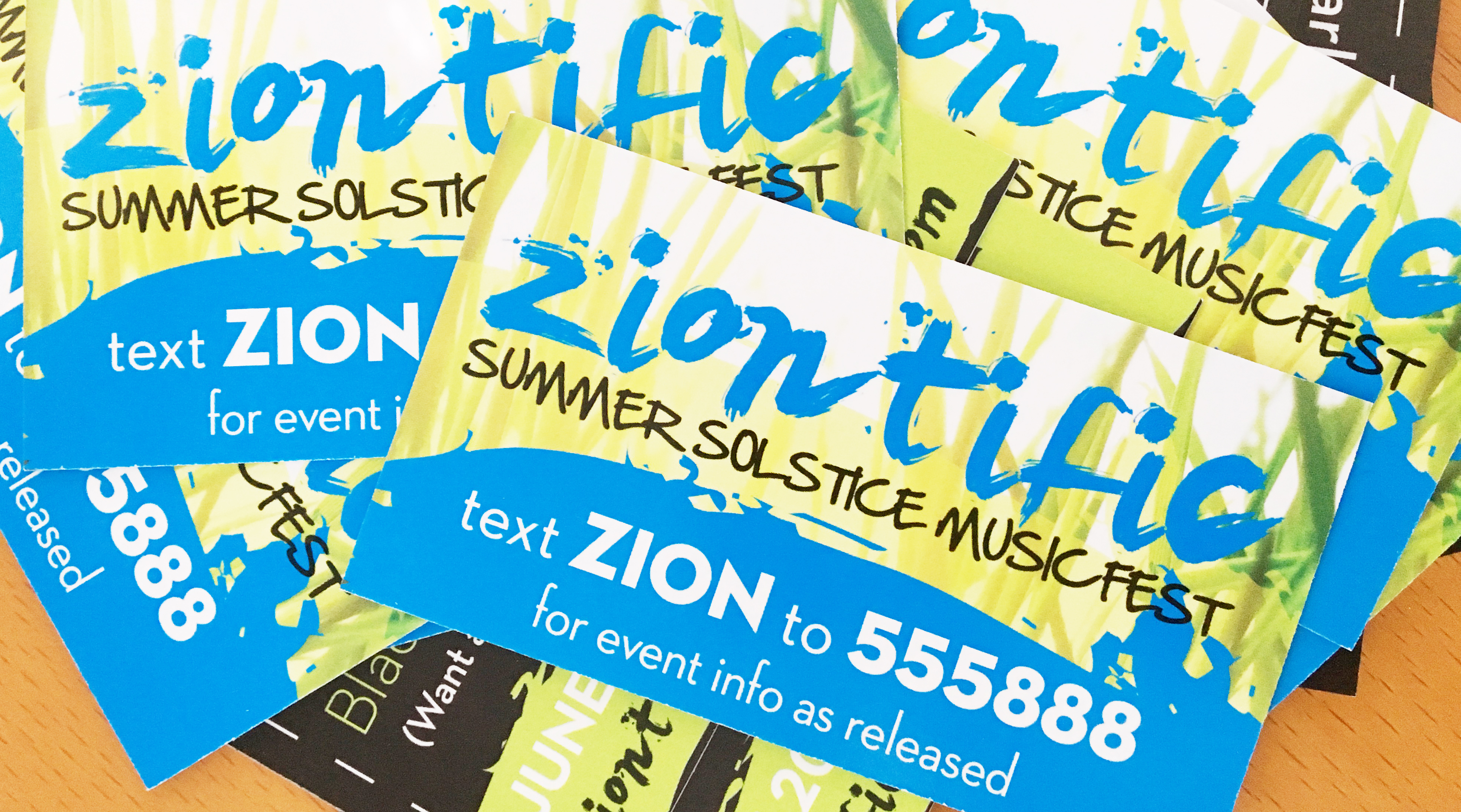 Text ZION to 555888