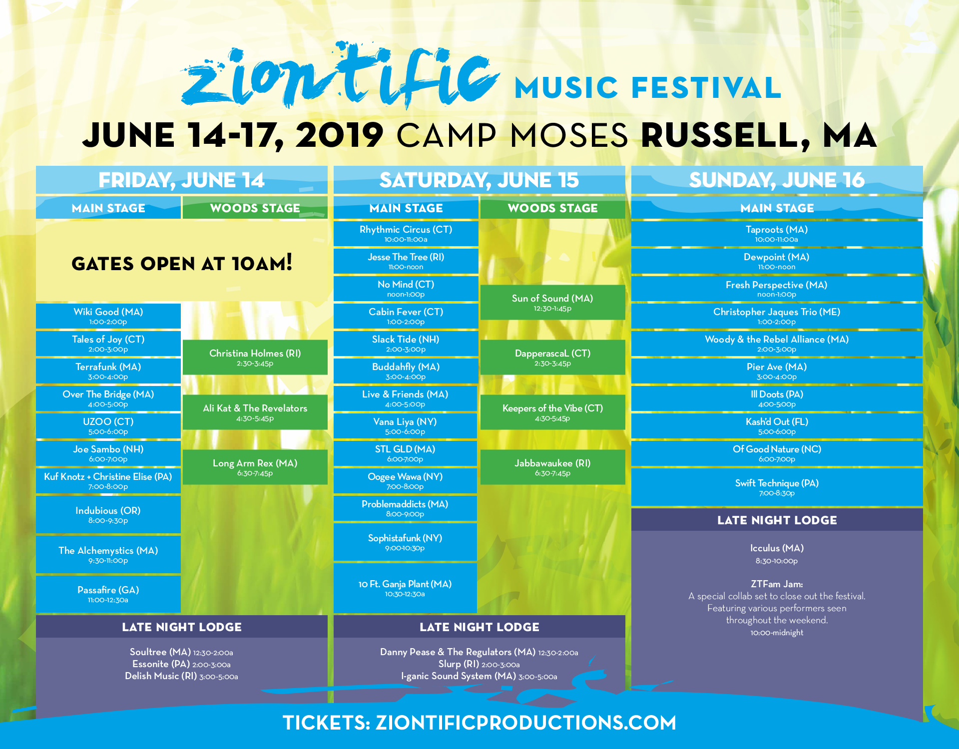 Ziontific Music Festival 22019 Music Schedule Released